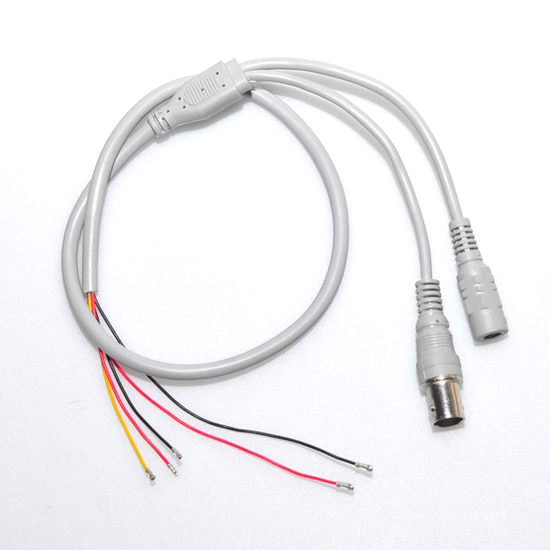 10PCS/Lot 5 Core Wire Five Pin Cable For CCTV Camera The Cable Use For Install Security Camera Video Cable Power Cable