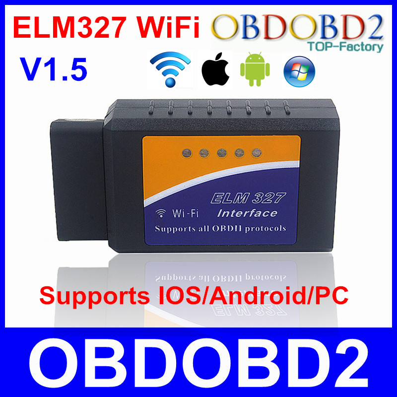 High Quality V1 5 ELM327 WiFi ELM 327 Supports All OBDII Protocols Car Diagnostic Tool OBD2