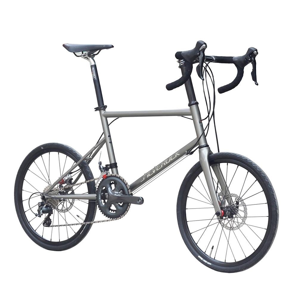 Silverock Chromely Minivelo Bike 20″ 1 1/8″ 451 with Tiagra Group BB5 Disc Brake Drop 22 Speed Urban Mini velo Road Bicycle