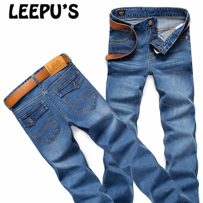 LEEpu s Brand men s ripped jeans Equipped with POLO shirt more attractive man summer style