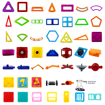 Modeling Accessories Magnetic Designer Building Blocks Educational Toys Magnetic Blocks Creative Bricks Models Toys For Children hc magic diamond building blocks bricks cartoon money pot pikachu anmie build blocks educational toys for boys girls children