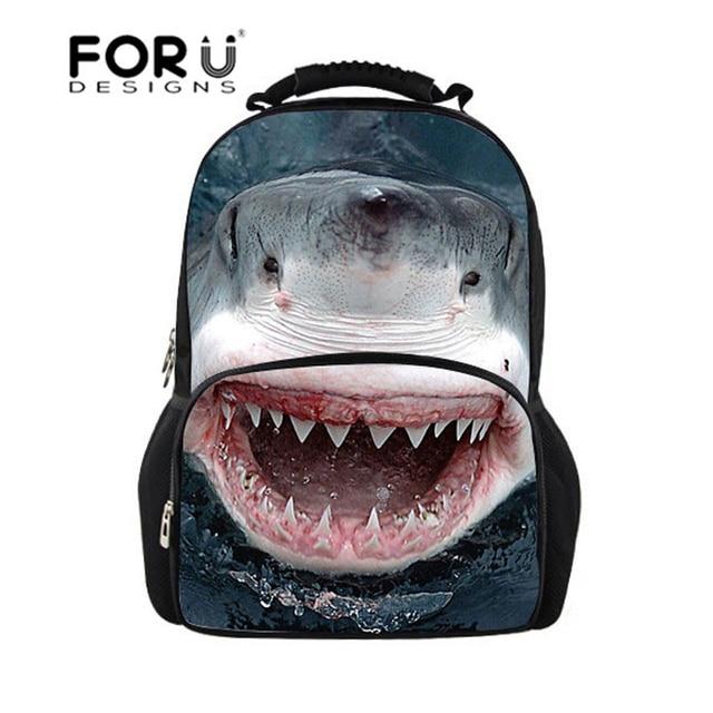 Shark Backpack Men Cool 3D Printing Backpacks Women Back to School Bags for  Teenager Girls Boys Mochila Children Back Pack Bag 15d2ed3870246