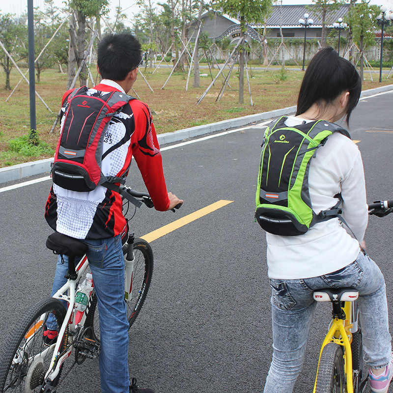 ANMEILU 2L TPU bolsa de agua plegable Nylon al aire libre deporte hidratación vejiga impermeable viaje bicicleta ciclismo mochila, sin bolsa de agua
