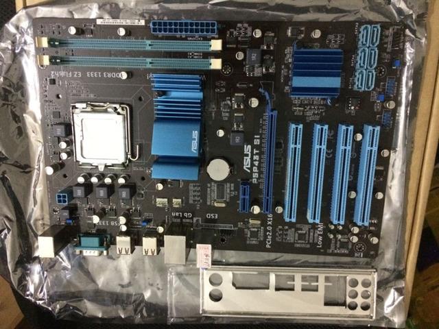 Frete grátis original para motherboard P5P43T SI USB2.0 16 GB placas P43 LGA775 DDR3 desktop motherboard