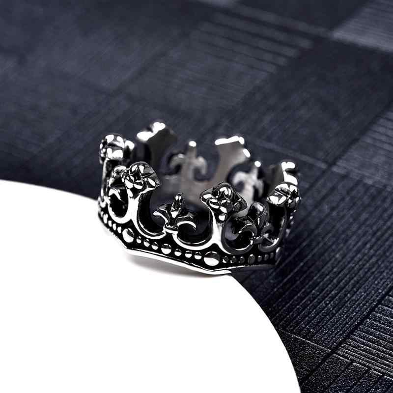 Jiayiqi, винтажное мужское байкерское кольцо для мужчин, корона, кольцо из нержавеющей стали для свадебной вечеринки, подарки, панк, Новое поступление, мужские ювелирные изделия