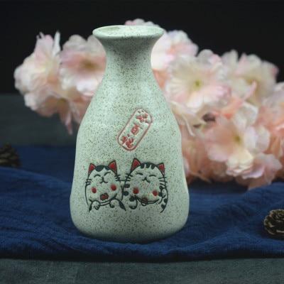 Японский ликер горшок Ретро керамика теплые емкость для ликера дистрибьютор бытовой маленькие белые вина флакон китайский barware Сакура - Цвет: 9