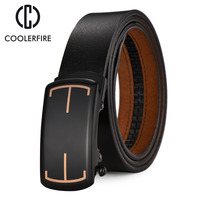 Name Brand Design Genuine Leather Mens Belts Luxury Cowhide Belt Strap High Quality Automatic Buckle Belts