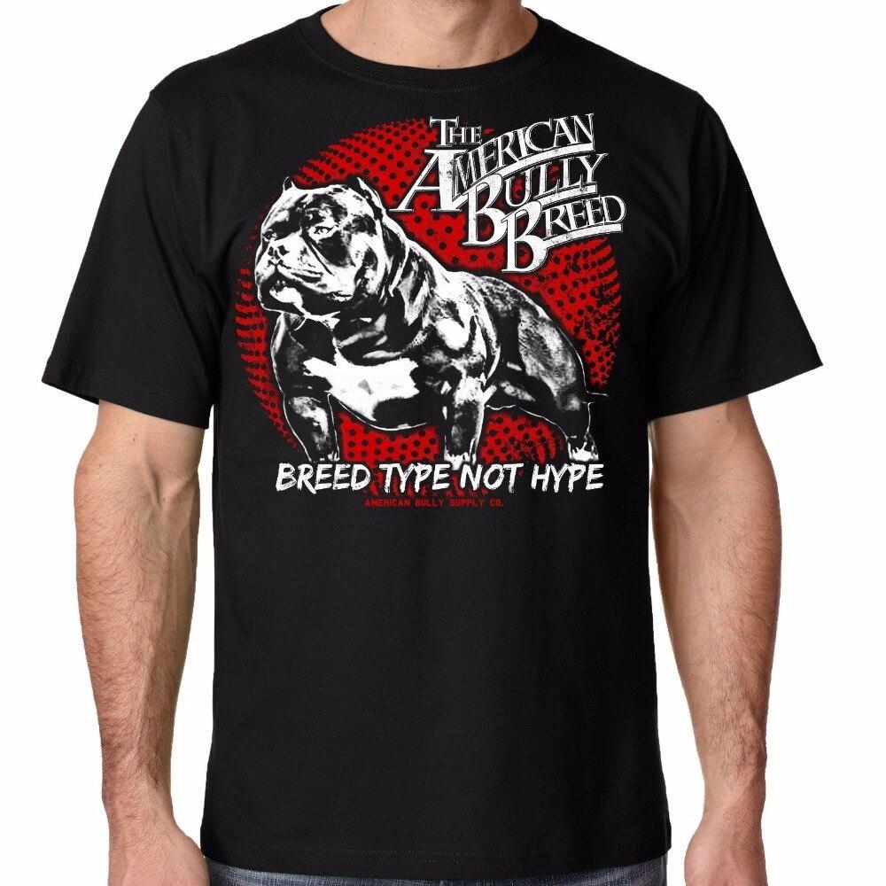 Новые 2018 т рубашка Для мужчин футболка различных цветов высокое качество породы питбуль американский хулигана питания Для мужчин Графичес...