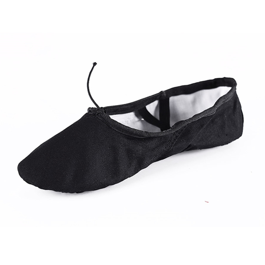 Free Shipping According The CM To Buy Canvas Black Ballet font b Shoes b font font