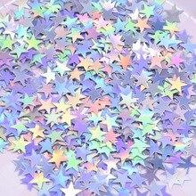 6 мм/10 мм красочные яркие золотые звезды акриловые конфетти свадебные для воздушных шаров год Свадьба День Рождения Вечеринка украшения стола