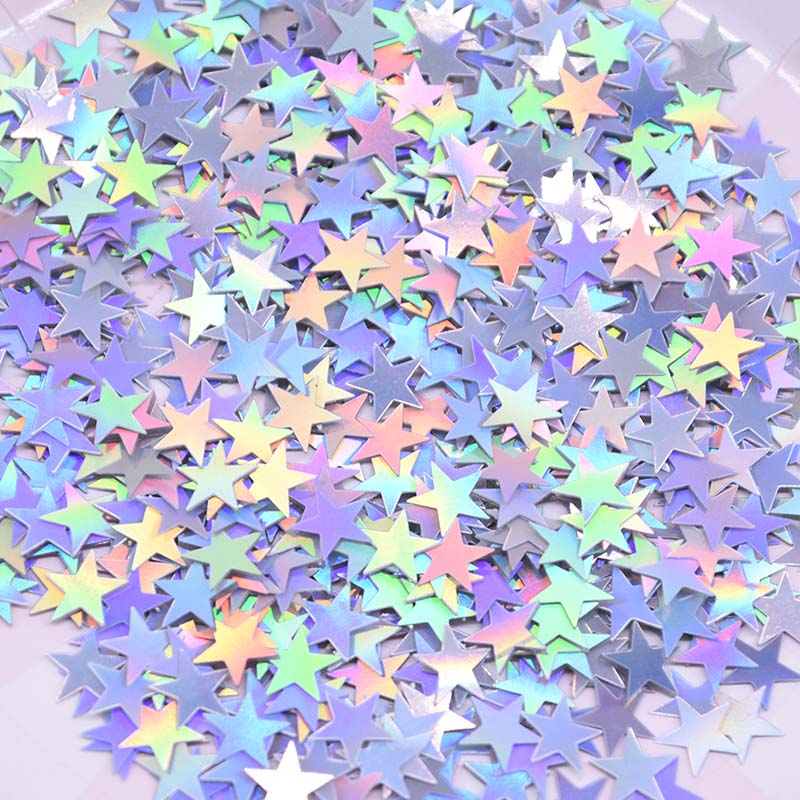 6mm/10mm Colorful Bright Gold Stars Acrylic Confetti wedding for Balloon New year Wedding Birthday Party Table Decorations-in Banners, Streamers & Confetti from Home & Garden