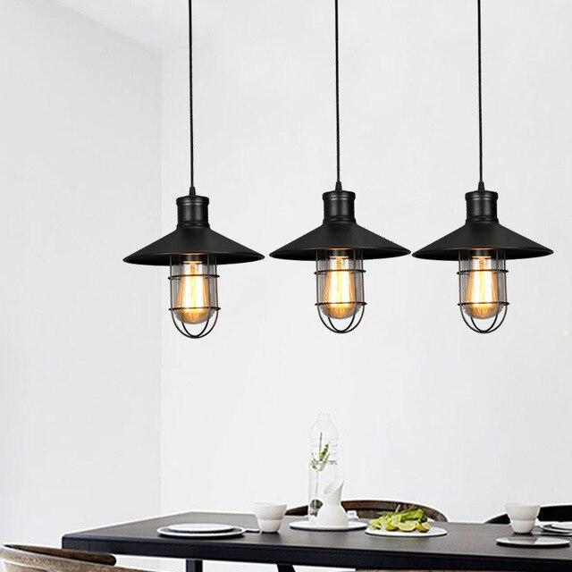 Nuevo vintage lámpara industrial lampara Retro Luz colgante desván ...