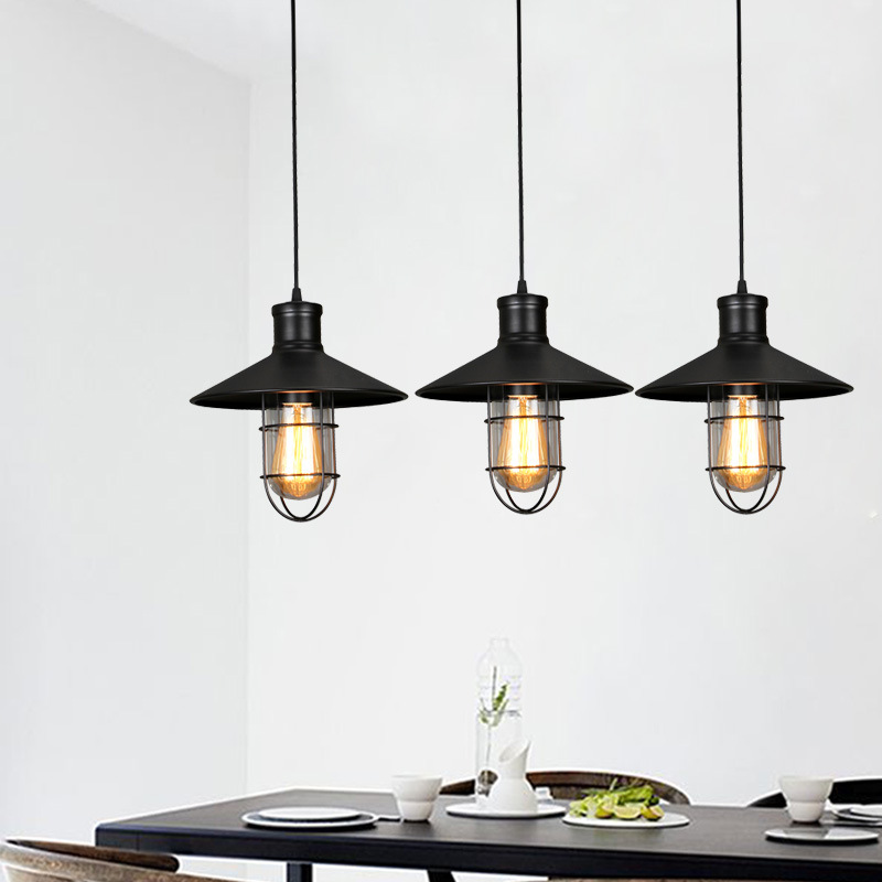 new vintage industrial lamp lampara retro pendant light lampshade loft lights living dining room countryside E27 edison 6w lamps a1 master bedroom living room lamp crystal pendant lights dining room lamp european style dual use fashion pendant lamps
