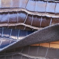 High Quality Synthetic PU Matte Mirror Crocodile Leather Material