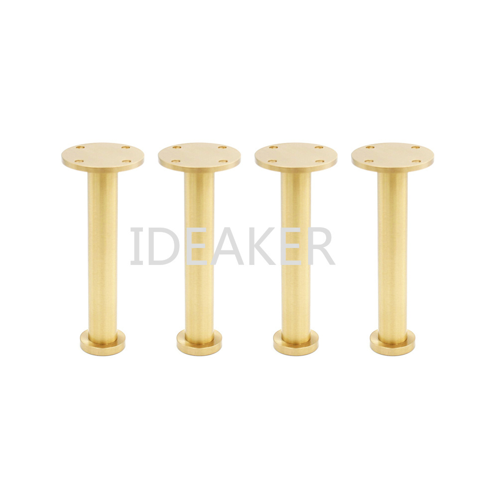 4PCS 5x13x3CM Adjustable Furniture Legs Copper Furniture Feet Cabinet Table Sofa Feet
