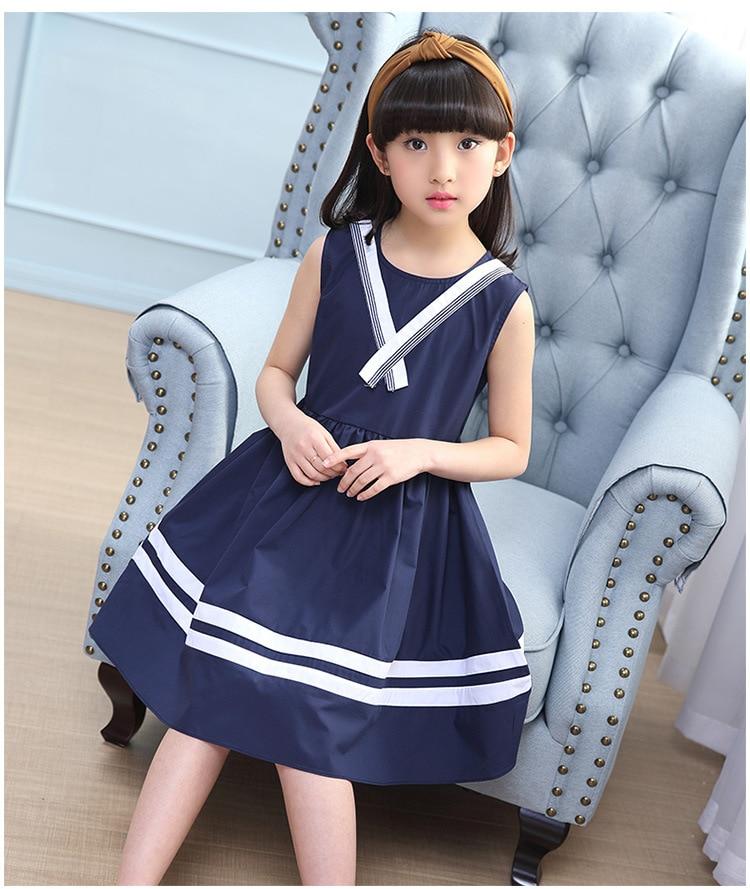 New 2018 Girls Summer Dress Kids Clothes Girls School -7014