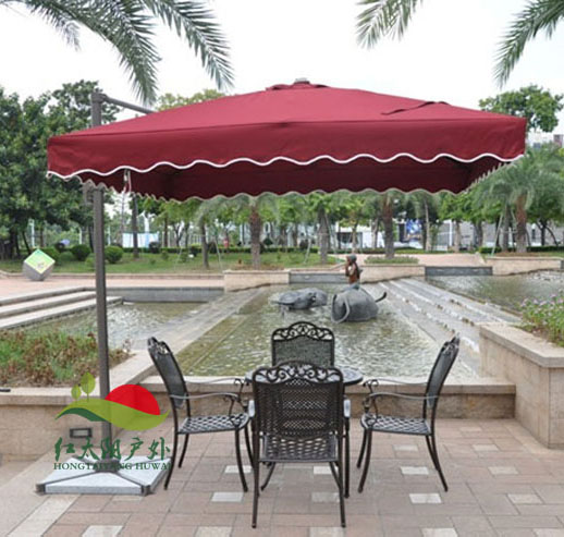 446eb89576 Small square garden outdoor patio umbrellas Rome umbrella Celi unilateral  folding aluminum advertising booth-in Patio Umbrellas & Bases from  Furniture ...