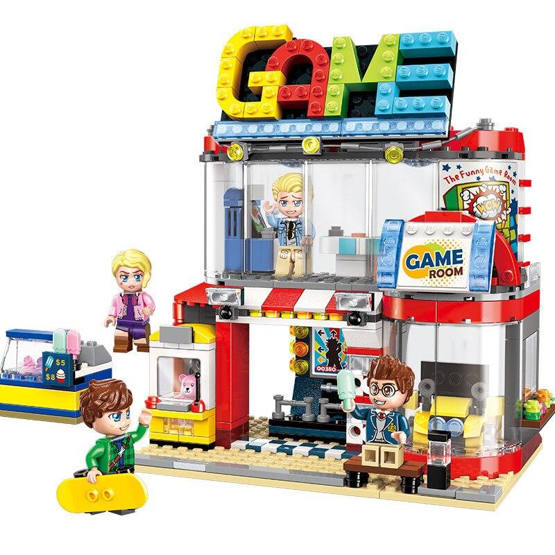 461 個子供のビルディングブロックのおもちゃ互換市 Legoingly 友人市シリーズクールプレイルームフィギュアレンガ誕生日ギフト  グループ上の おもちゃ & ホビー からの モデル構築キット の中 1