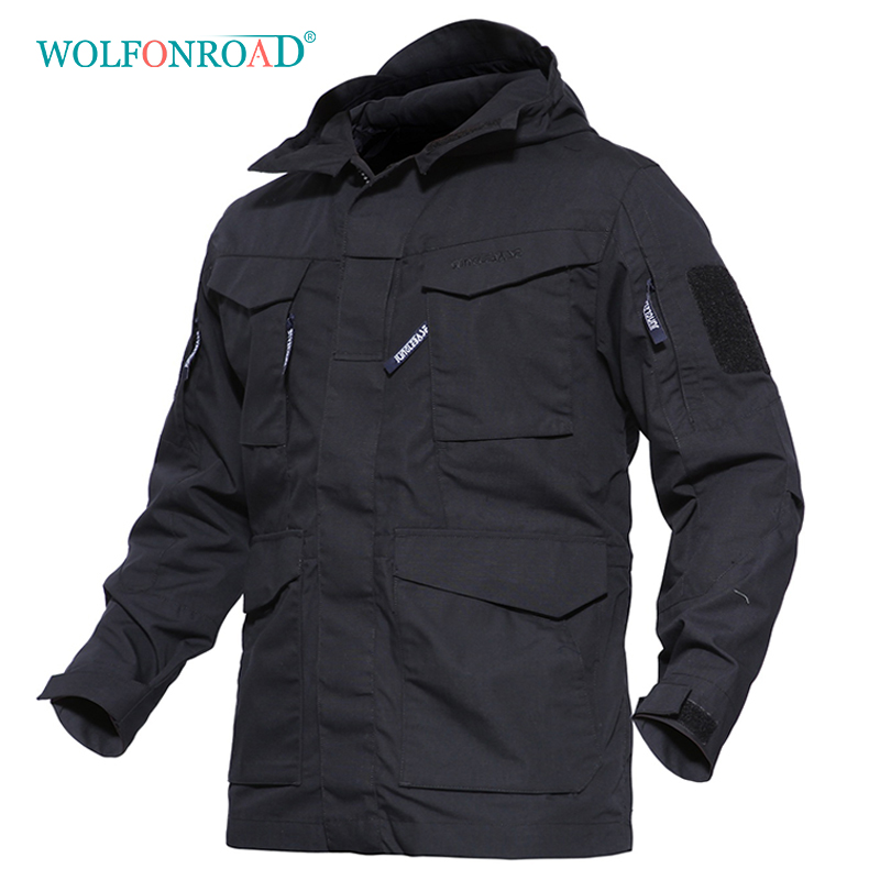 WOLFONROAD Outdoor Sport Jacket Military Tactical Jacket Men's Winter Windbreaker Thermal Jacket Coat Hiking Hooded Clothes цена