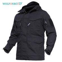 Wolfonroad jaqueta esportiva ao ar livre militar tático jaqueta de inverno dos homens blusão casaco térmico caminhadas roupas com capuz
