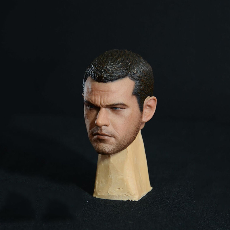 1/6 Scale Firate-rate Matt Damon Male Head Sculpt The Bourne Identity 5 For 12 Inches Men Bodies Figures Dolls 1 6 scale asian men with beard head sculpt for 12 inches male bodies figures dolls accessories brinquedos gifts toys