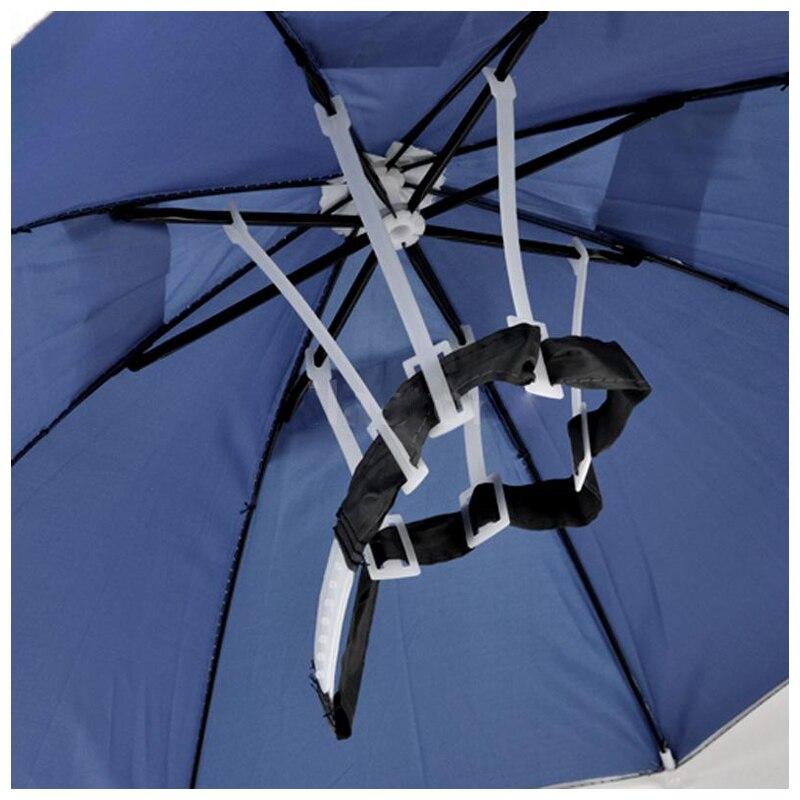 Outdoor Sports Foldable Golf Fishing Hunting Sun Brolly Umbrella Hat Cap