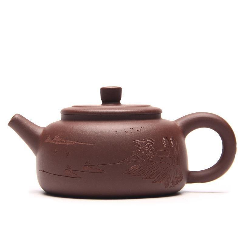Chinois Yixing Teaware Pierre Scoop Thé Pot Yixing Minerai D'argile Pourpre Authentique Théière Maîtres Promotions Kung Fu Auteur: zhou ting