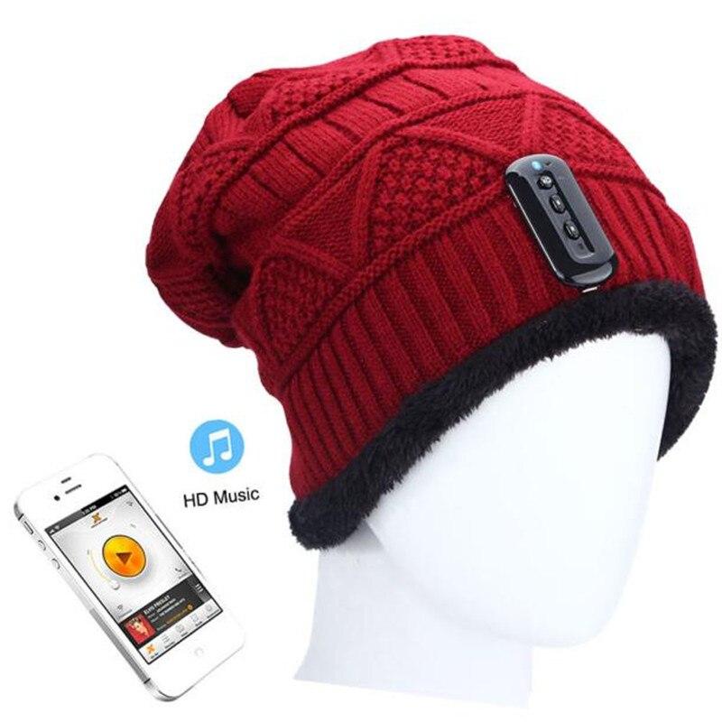 Winter Warm Fashion Unisex Beanie Skullies Hat Wireless Bluetooth Smart Cap Headphone Headset Speaker Mic Knit  Dec8 skullies