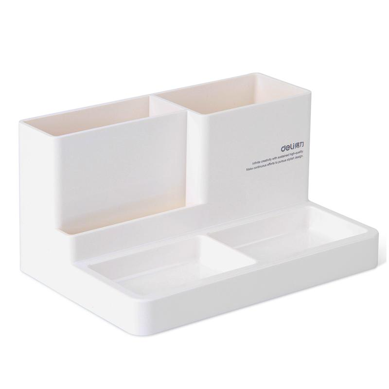 Держатель для канцелярских принадлежностей, аксессуары для стола, резиновая коробка для ног, держатель для канцелярских принадлежностей, канцелярские товары, органайзер для стола - Цвет: small white