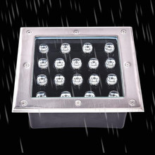 цена на Square LED Underground Light 9W LED Outdoor Ground Light Garden Path Buried Yard Lamp DC12V AC85-265V IP67 Waterproof Spotlights