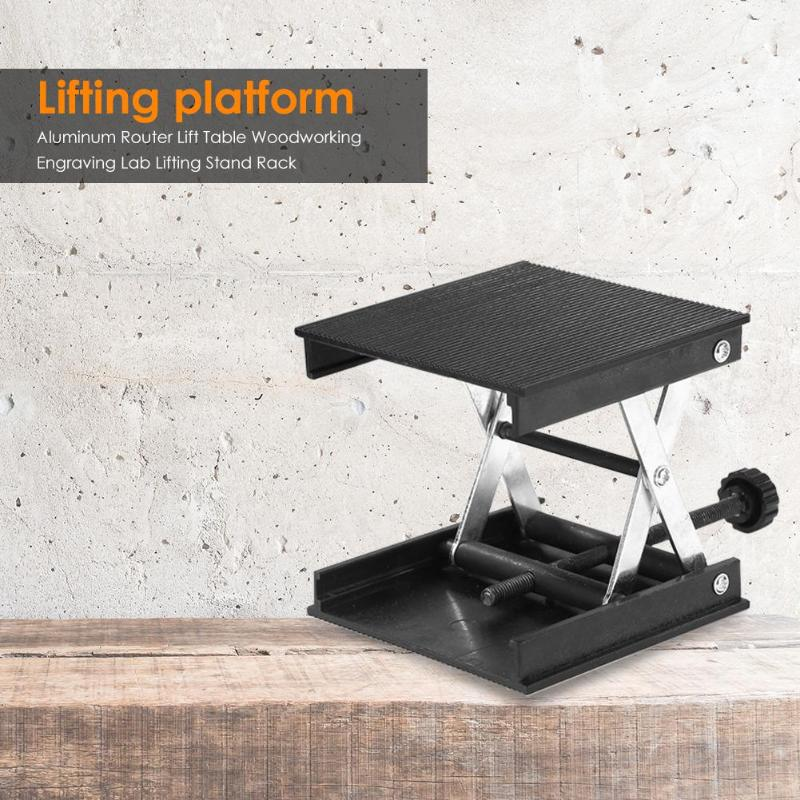 Aluminum <font><b>Router</b></font> Lift Table Lifting Platform Woodworking Engraving Lab Lifting Stand Rack Table Bench <font><b>Lifter</b></font> image