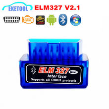 Super MINI ELM327 Scanner Bluetooth V2.1 Fonctionne Couple Androïde D'interface Sans Fil Automatique CAN-BUS ORME 327 Soutient Protocoles D'OBDII(China)