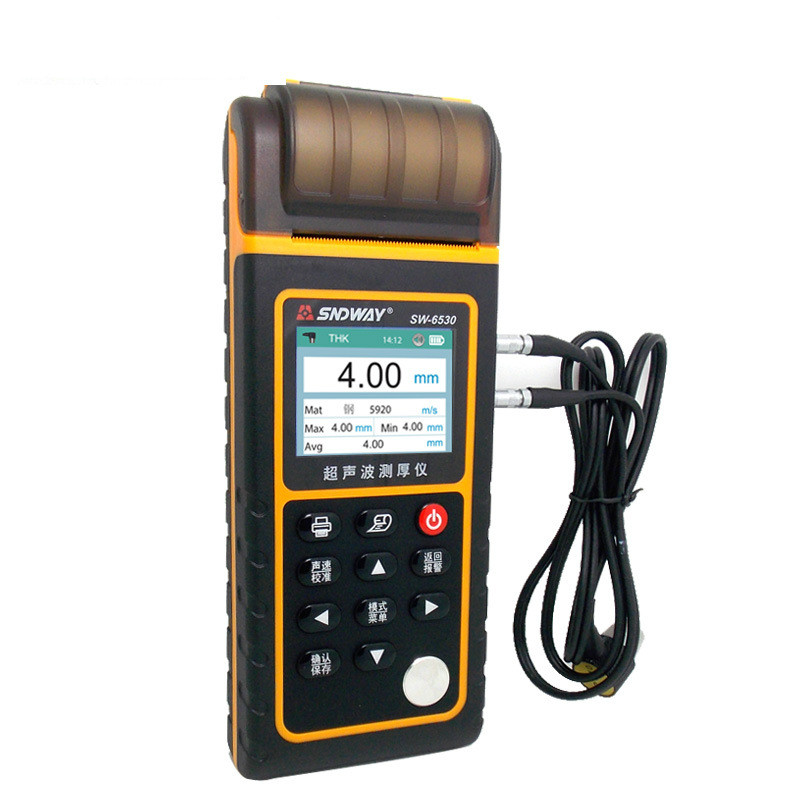 Ultrasonic Thickness Gauge High Precision Thickness Tester Iron and Steel Copper Glass Ceramic Thickness Measuring Instrument tm09a high precision digital copper foil thickness tester gauge for pcb copper clad meter lcd backlight 0 oz to 2 oz