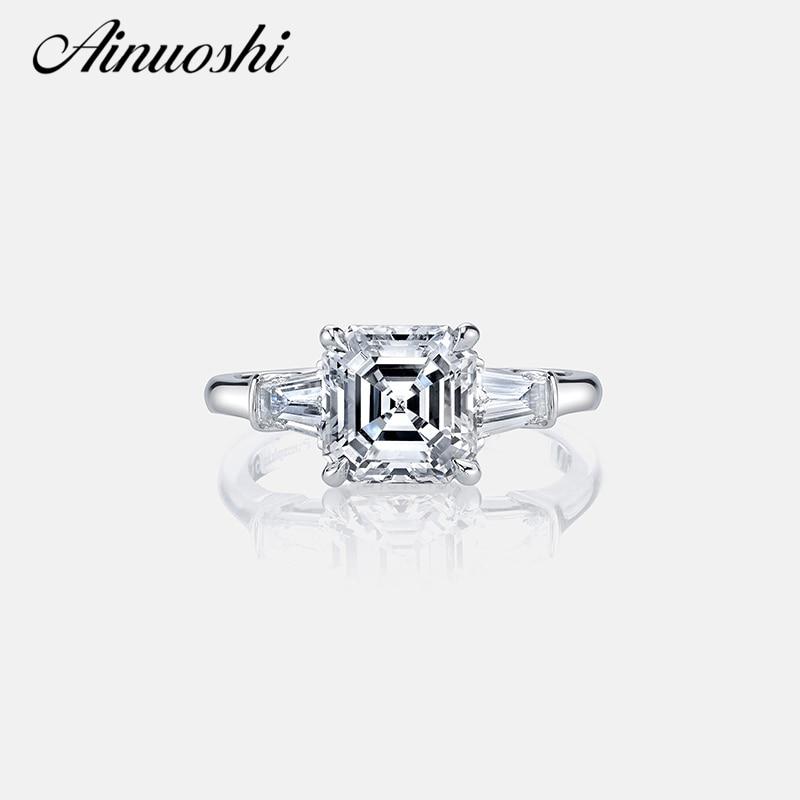 АИНОУСХИ Луксузни женски прстен са прстеном од 3 карата, 3 каратни прстен за жене