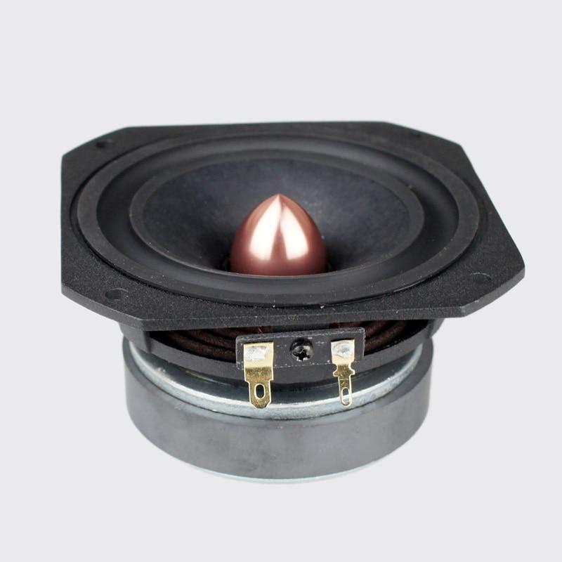 2PCS Aucharm 4inch HiFi Full Frequency Speaker Driver Cone Casting Aluminum Frame Aluminum Bullet 4ohm/15W Square