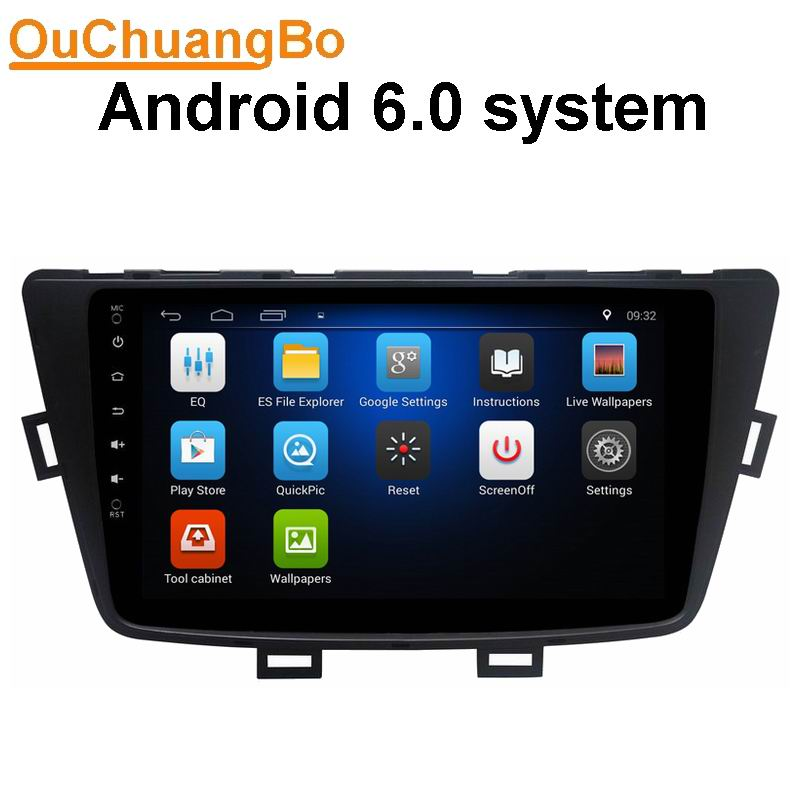Ouchuangbo android 6.0 car audio gps radio recorder for Baic Senova X55 2015 support WIIFI quad core Bluetooth mirror