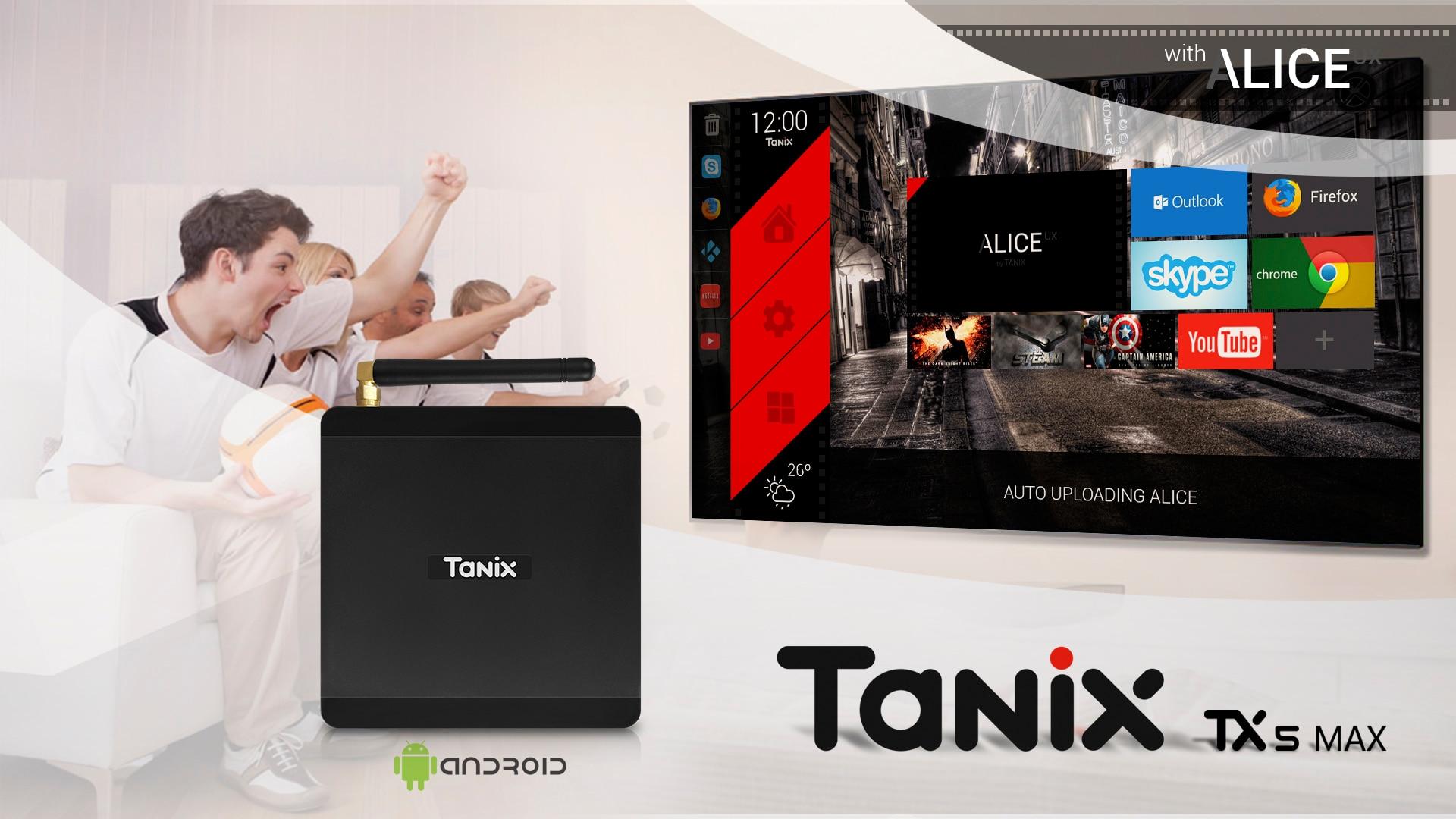 TX5 MAX DDR4 4 GB RAM 32 GB ROM 2,4G 5G WiFi 1000 M LAN Bluetooth Android 8,1 TV caja Amlogic S905X2 Quad Core 4 K HD caja inteligente - 4