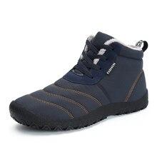 Christmas Winter Men Shoes Warm Plush Boots Waterproof Safety Anti-slip Ankle Snow Plus Size zapatos de hombre