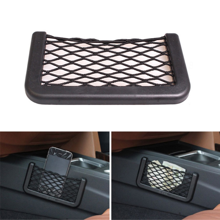 1Pcs Universal Car Storage Bag Net Pocket For Phone Wallet Carrying Truck Auto SUV Car Interior Accessories