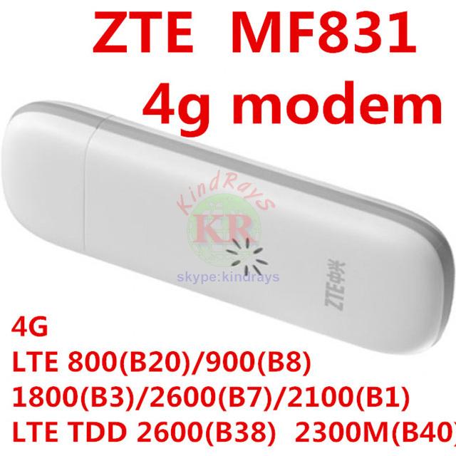 Desbloqueado zte mf831 4g de qualcomm 150 mbps módem usb 3g 4g módem de Tarjeta SIM PK mf820 mf823 mf821 mf910 mf90 mf80