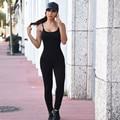 Sali 2016 ropa de Las Mujeres de Fahion Negro Sólido Blanco Mono Atractivo de Las Mujeres condole s Largo Del Vendaje Del Partido de Clubwear Buzos