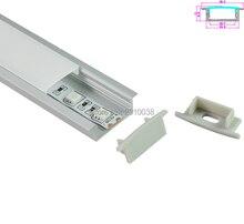 10 Sets/Lot Square Anodized Silver LED aluminum profile AL6063 Aluminium led Channel for recessed Wall light