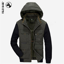 Winter Jacket Thick Warm Cotton Casual Parka Male Hooded Winter Coats Multi-Pockets Outerwear Brand Jackets Plus Size 4XL 5295