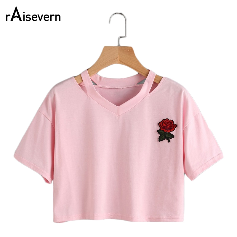 Új forró női felsők, rózsaszínű nyomtatású idegen pólók - Női ruházat