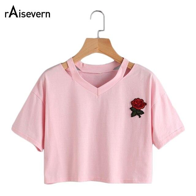 Novas Mulheres Quentes Tops Rose Impressão de Aliens Design T Camisas de Manga Curta Women T Shirt Confortável Camisetas Adolescentes Estudantes Do Sexo Feminino