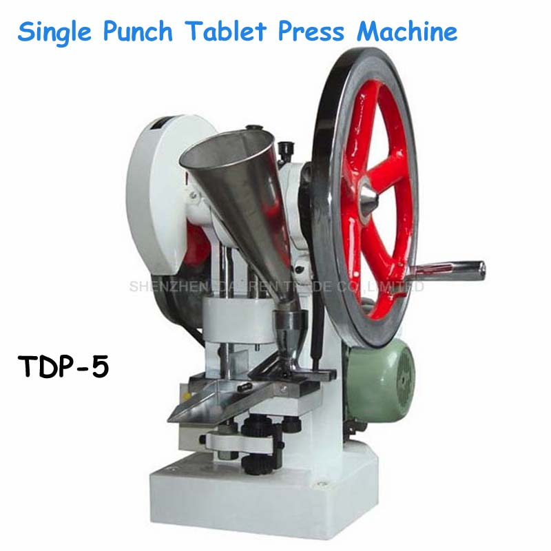 Single Punch Tablet Press Machine 110V/220V 50KN Pressure Press Harder Pill Maker with Stamp Mold Punch Die TDP-5 цена