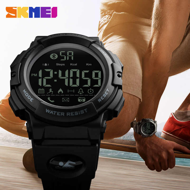 SKMEI Brand Smart Watch Men LED Digital Sport Wrist Watch Remote Camera Call Reminder Bluetooth Smartwatches For iPhone Android
