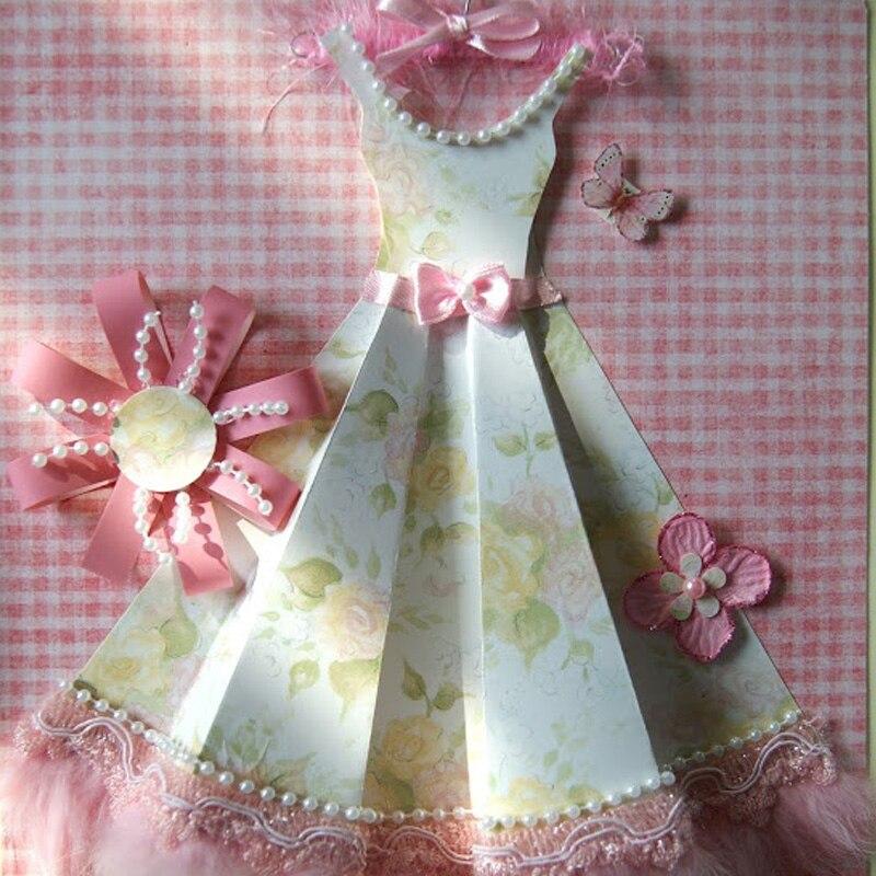 Открытки женские с платьями, открытки своими руками