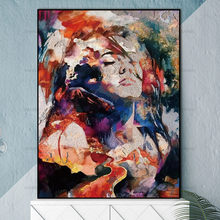 Canvas Painting Pictures Wall poster no frame abstract painting art prints figure on canvas home decoration for living room(China)