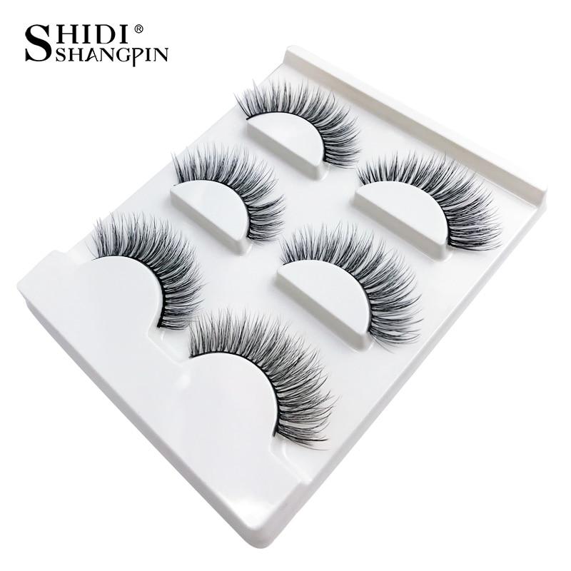 SHIDISHANGPIN 3 Pairs mink eyelashes natural long 3d eyelashes 3d mink lashes handmade false lashes eyelash full strip lash